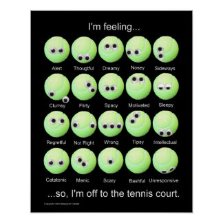Tennis Balls Emotions Poster
