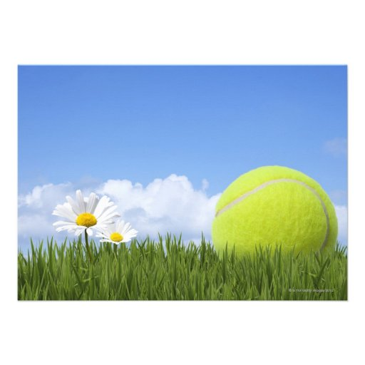 Tennis Balls Invitations