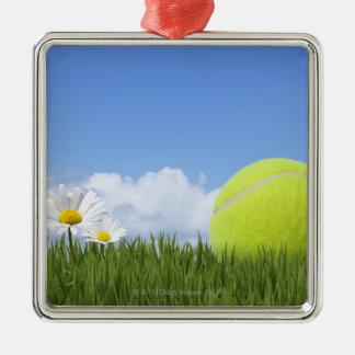 Tennis Balls Metal Ornament