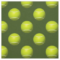 Tennis Balls on green pattern fabric