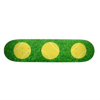 Tennis Balls On Lawn Skateboard Deck