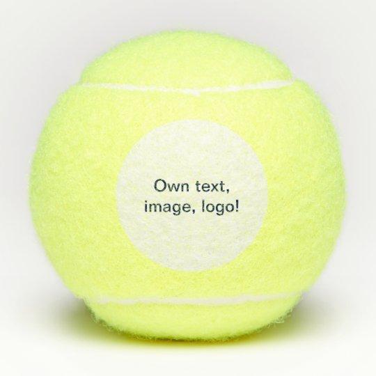 Tennis Balls Own Color Own Text Own Logo Zazzle Com