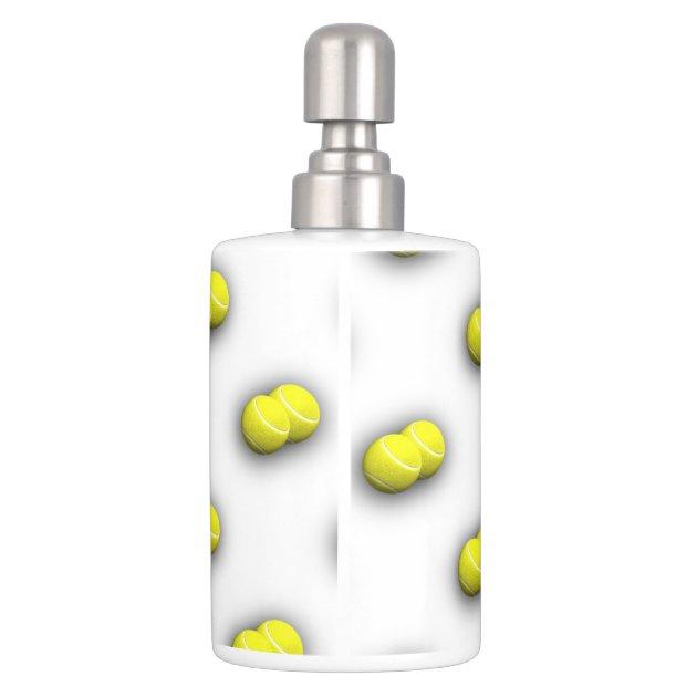 tennis balls sport bathroom accessories soap dispenser and