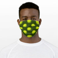 Tennis Balls Sports Face Mask
