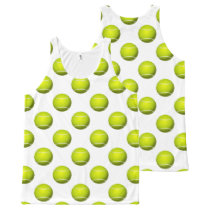 tennis balls sports pattern All-Over-Print tank top