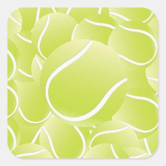 tennis balls square sticker