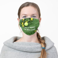 Tennis balls with life is better on the court adult cloth face mask