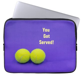 Tennis balls You've got served Placemat on purple Laptop Sleeve
