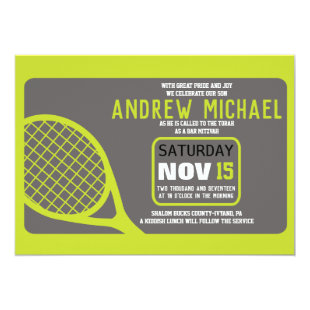 TENNIS Bar Mitzvah Invitation