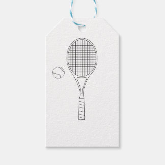Tennis Bat & Ball Gift Tag