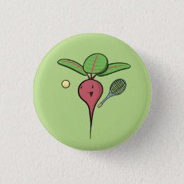 Tennis Beet Pinback Button