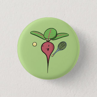 Tennis Beet Pinback Button