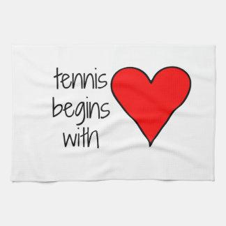 Tennis Begins with Love Towel