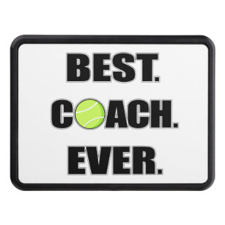 Tennis Best Coach Ever Tow Hitch Cover