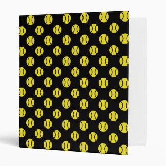 Tennis binder with yellow ball pattern | Custom