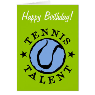 Tennis Birthday card for kids