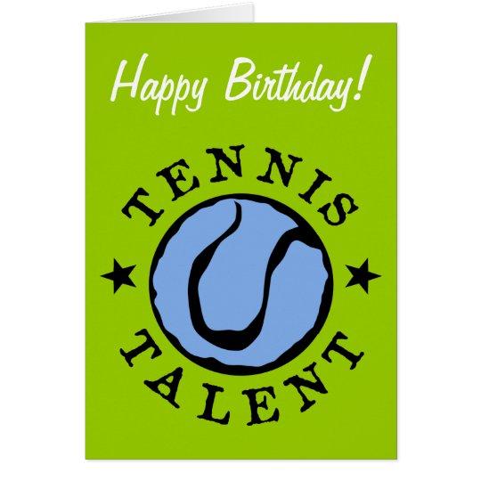 Tennis Birthday card for kids
