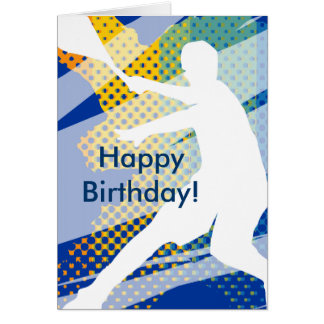 Tennis Birthday Card for men and boys