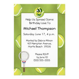 Tennis Birthday Invitations