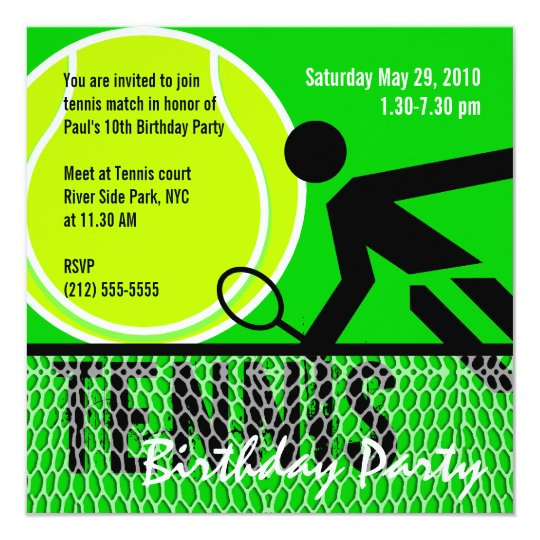 Tennis birthday party invitation zazzle tennis birthday party invitation filmwisefo