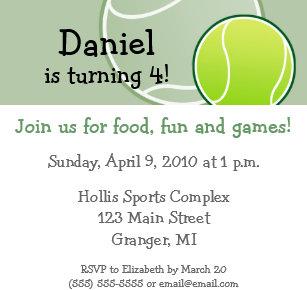Tennis birthday invitations zazzle tennis birthday party invitations 525 in filmwisefo