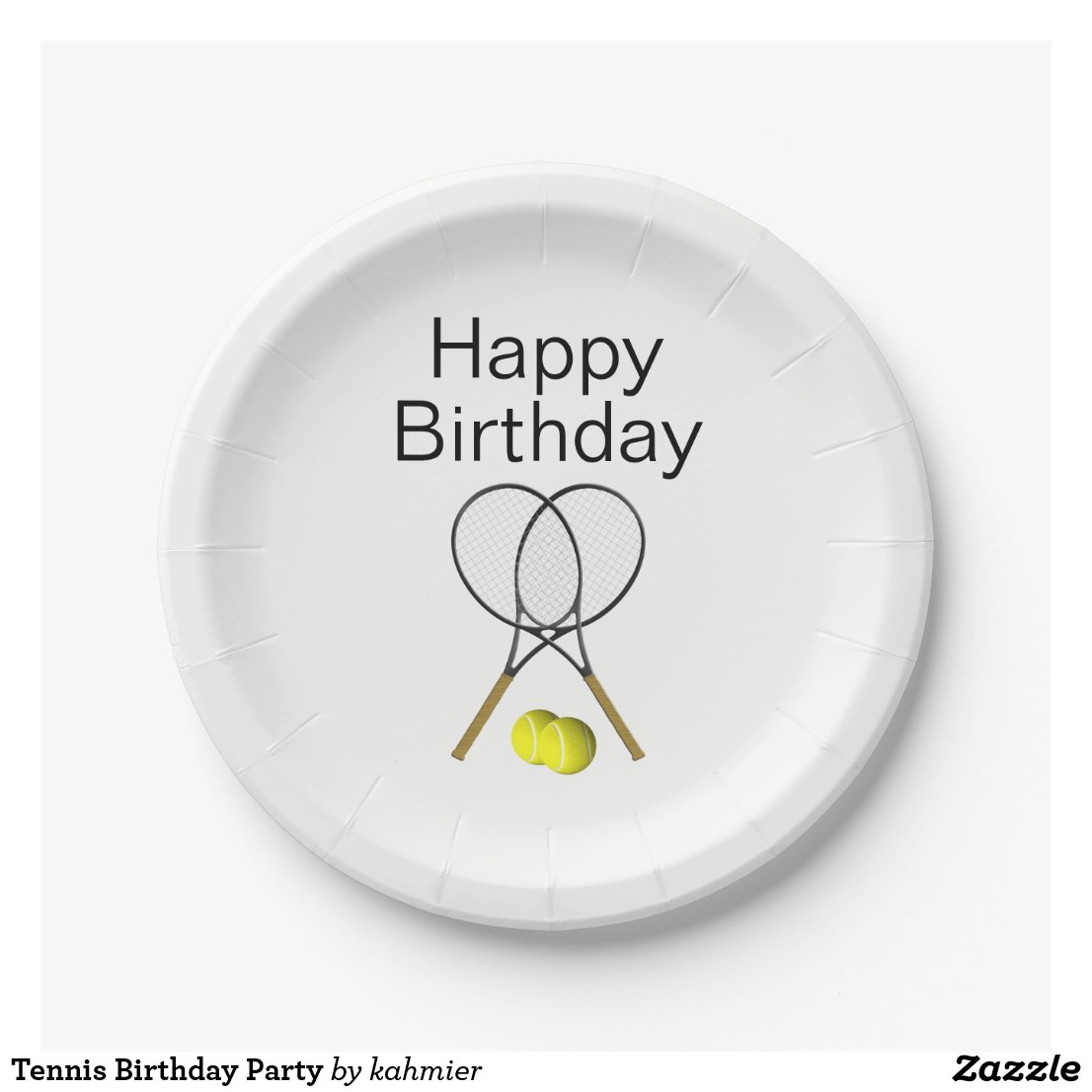 Tennis Birthday Party Paper Plate