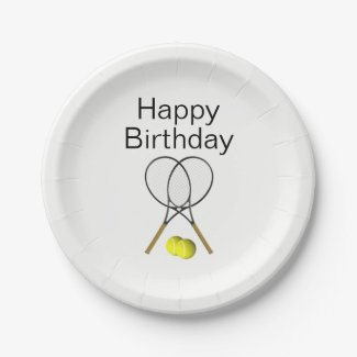 Tennis Paper Plates for Birthday Party
