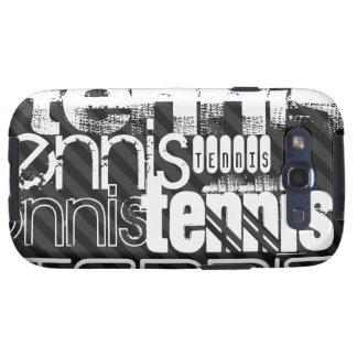 Tennis; Black & Dark Gray Stripes Samsung Galaxy SIII Covers