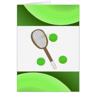 Tennis - blank stationery note card