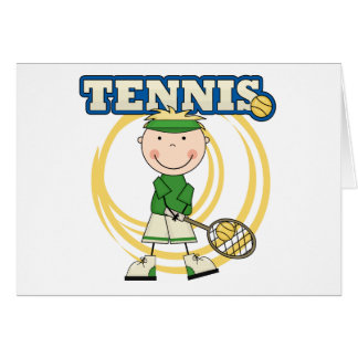 TENNIS - Blond Boy T-shirts and Gifts Greeting Card