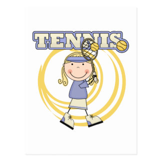 TENNIS - Blond Girl Tshirts and Gifts Postcard