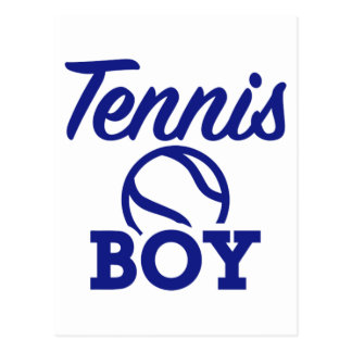 Tennis boy postcard