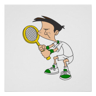 Tennis Boy Poster
