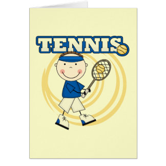 TENNIS - Brunette Boy Tshirts and Gifts Greeting Card