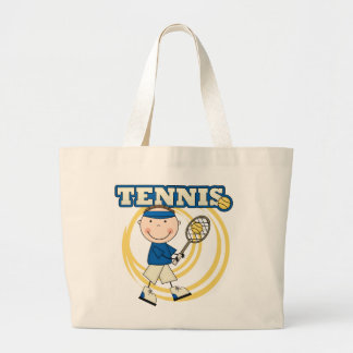 TENNIS - Brunette Boy Tshirts and Gifts Large Tote Bag
