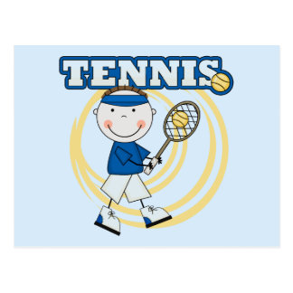 TENNIS - Brunette Boy Tshirts and Gifts Postcard