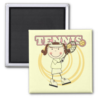 TENNIS - Brunette Girl Tshirts and Gifts Magnet