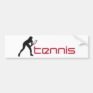 tennis bumper sticker