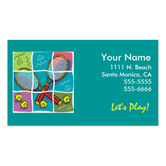 "Tennis ""Business"" Card Business Card Templates"