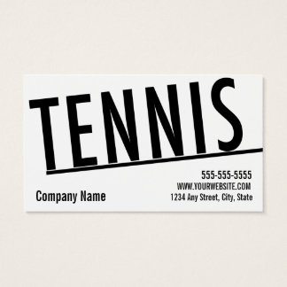Tennis Business Card 10 Class Pass