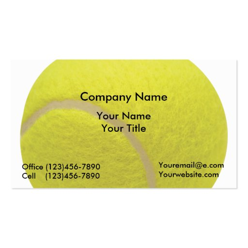 Tennis Business Cards