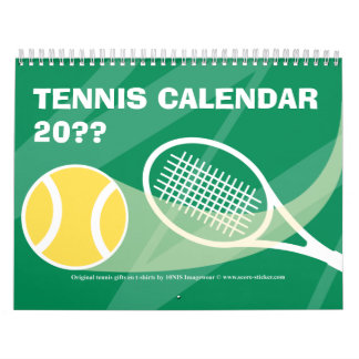 Tennis Calendar 2012 2013  with customizable text