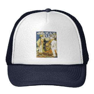 Tennis Cap: Vintage -  A la Place Clichy - Grasset Mesh Hat