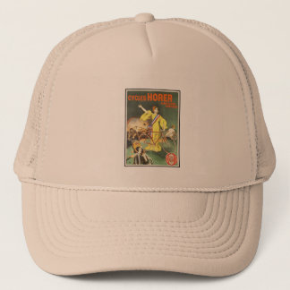 Tennis Cap:  Vintage Cycles Horer Bicycle Ad Trucker Hat