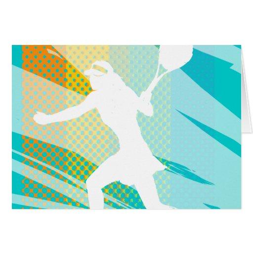 Tennis card with female tennisplayer print