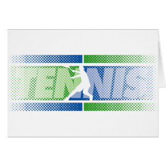 Tennis Cards in different designs