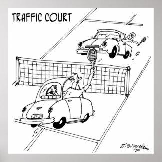 Tennis Cartoon 5216 Poster