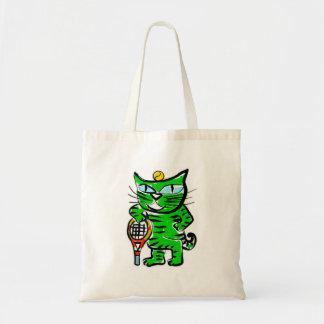 Tennis Cat Canvas Bag