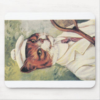Tennis cat mouse pad