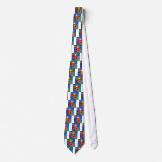 Tennis celebrates in full color neck tie